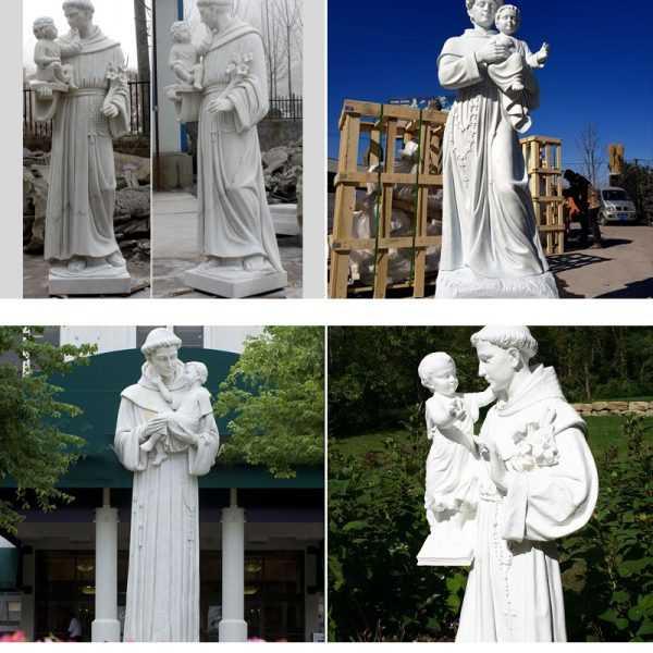 catholic manufacturer direct supply custom made catholic statues of Saint Anthony of padua with infant jesus marble statue designs