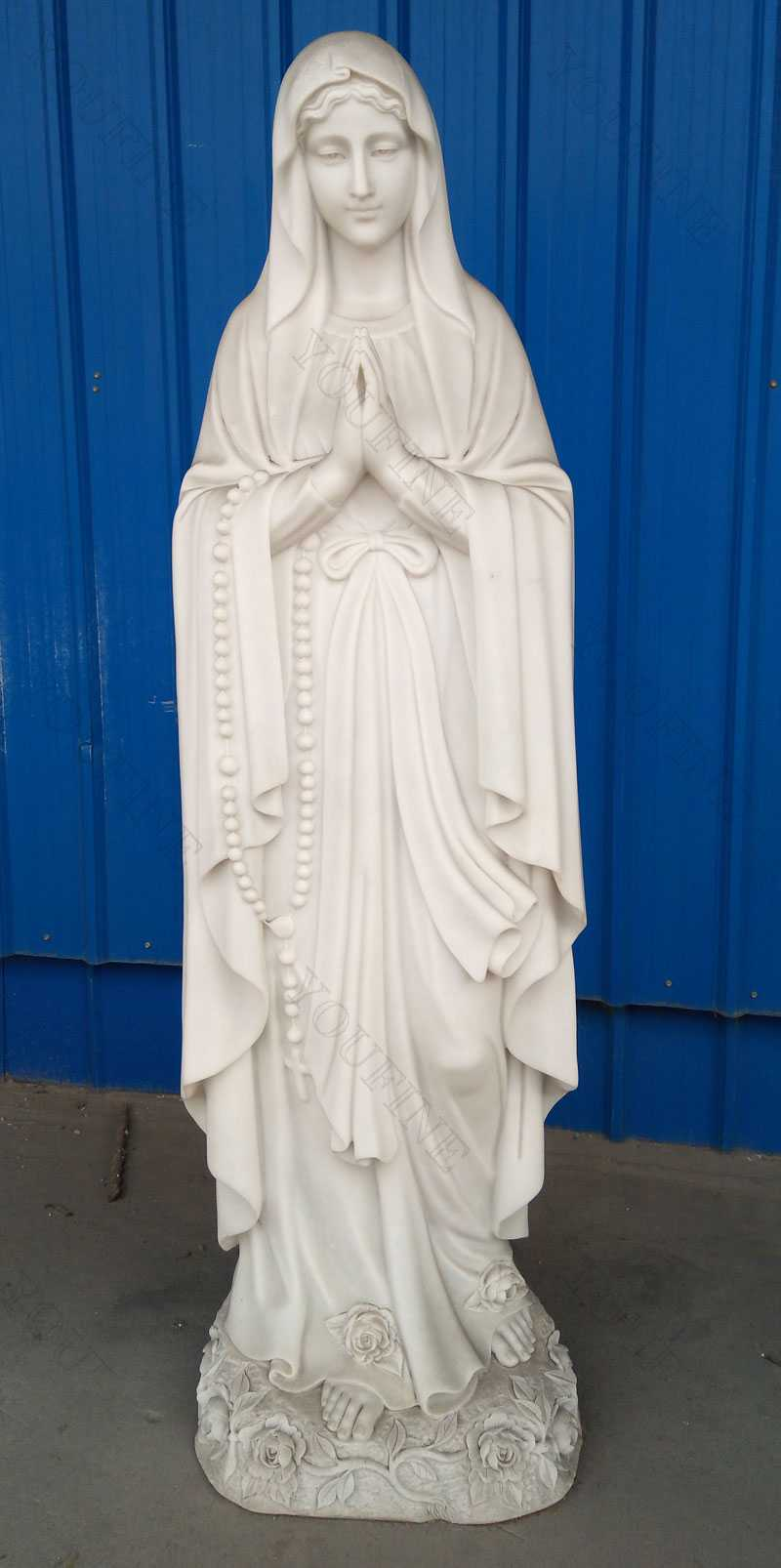 catholic religious statue life size of our lady of mary statue preyer for sale