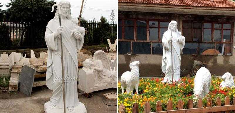 catholic sculpture Christ the shepherd statue for sale