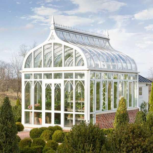 cheap custom made life size garden wrought iron gazebo with glass for outdoor decor