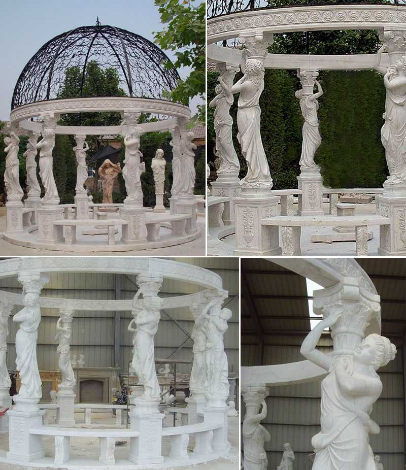 cheap high quality Egyptian marble pavilion gazebo designs for wedding ceremony decorations for sale