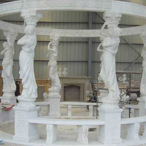 cheap high quality Egyptian white marble pavilion gazebo designs for wedding ceremony decoration for sale