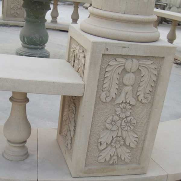 Affordable Marble Home Decor: Custom Small Cheap Yellow Marble Gazebo Designs Price With