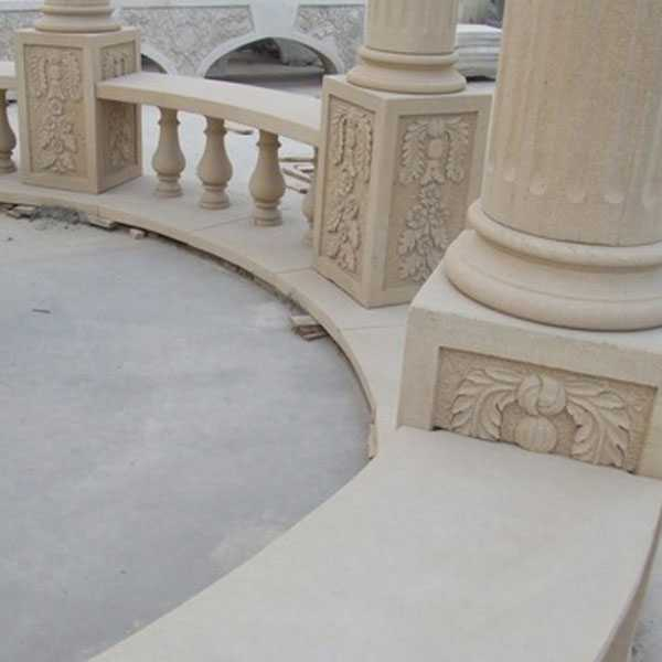 custom small cheap yellow marble gazebo designs costs with railing and beach for garden and font yard decor for sale