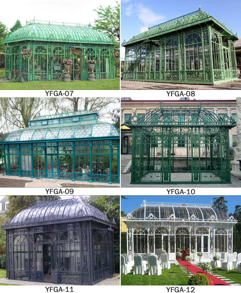 greenhouse design for wedding decor for sale
