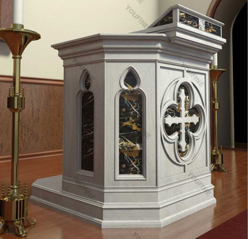 hand carved modern church pulpit design for sale
