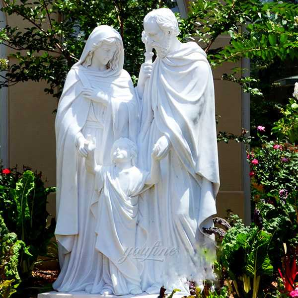 holy family marble statues