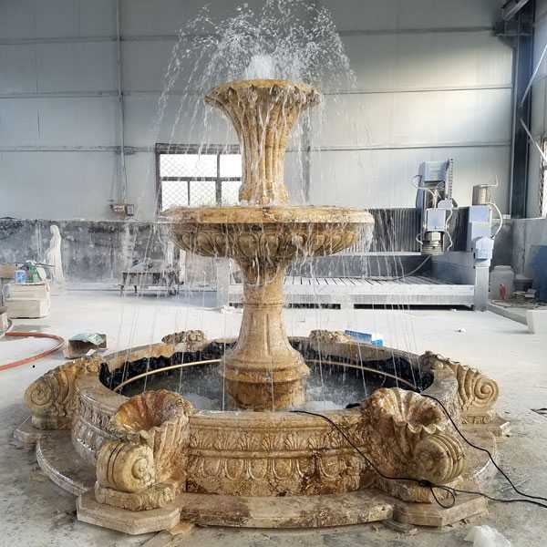 hot sell two tiered cheap life size pure white marble fountain for garden decor for sale