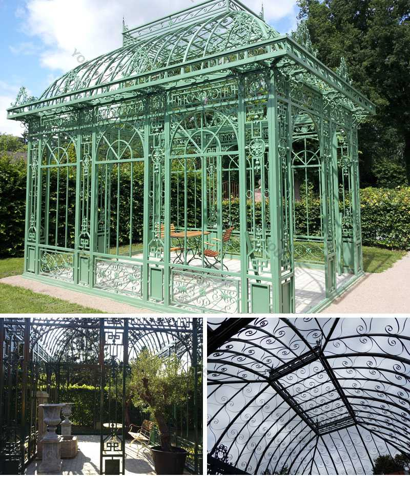 iron gazebo design for outdoor decoration