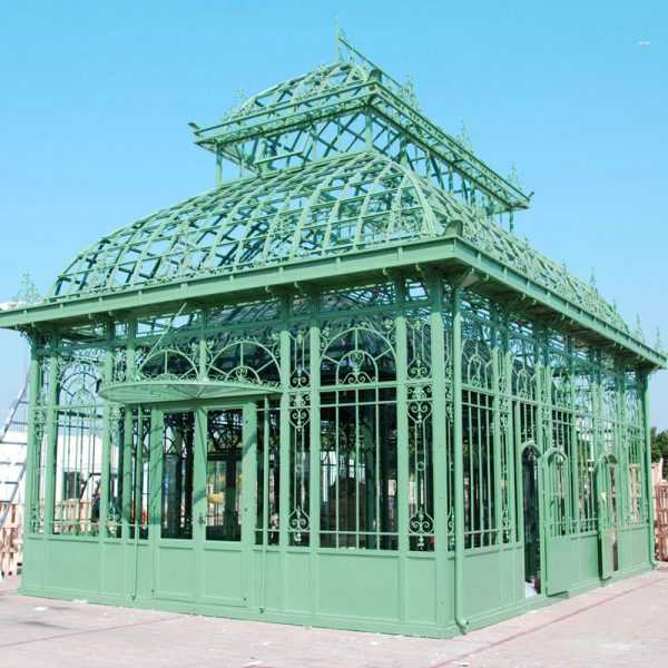 large greenhouse garden decor outdoor wrought iron gazebo designs for sale–IOK-87