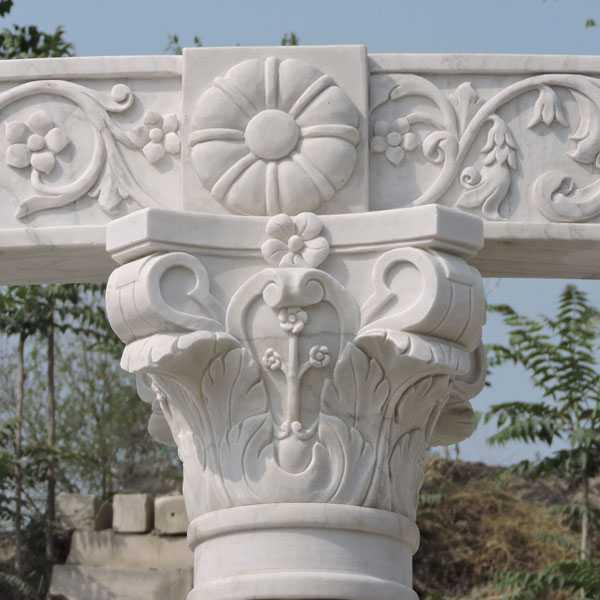 large luxury outdoor custom white marble gazebos designs for sales