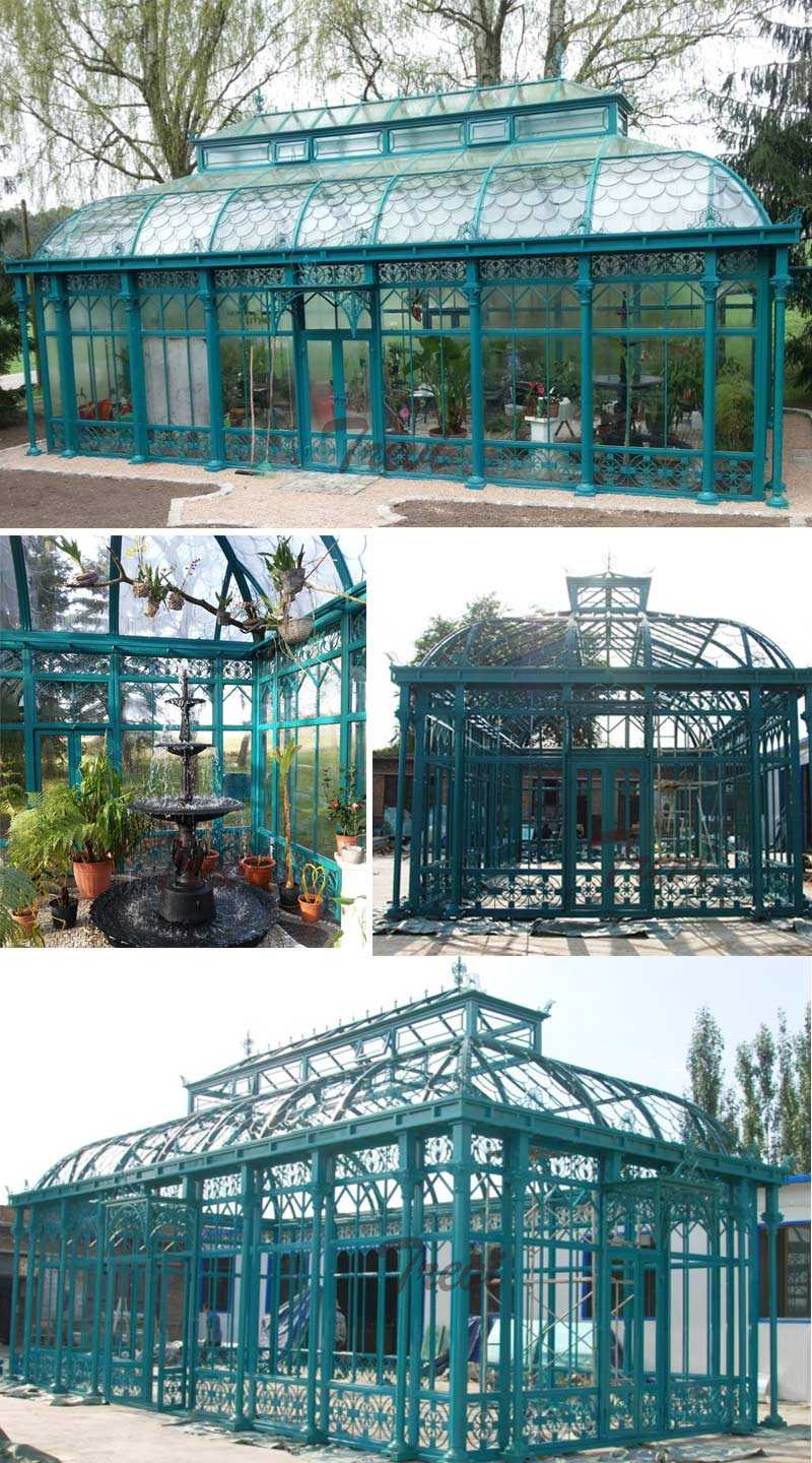 large outdoor iron gazebo for wedding ceremony