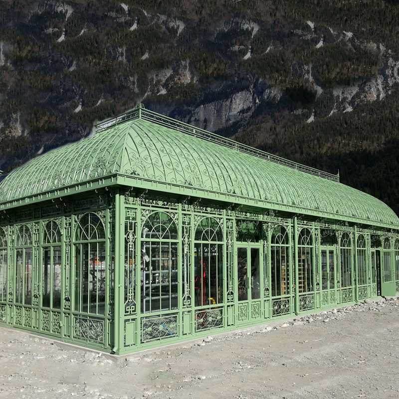 Large Outdoor Metal Wrought Iron Wedding Gazebo Designs on Hot Selling IOK-84