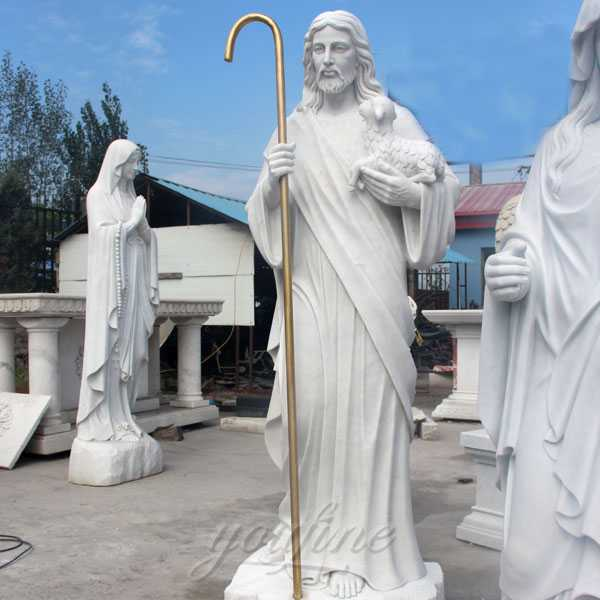 CHS-293 large outdoor most popular catholic sculpture Christ the shepherd statue for sale