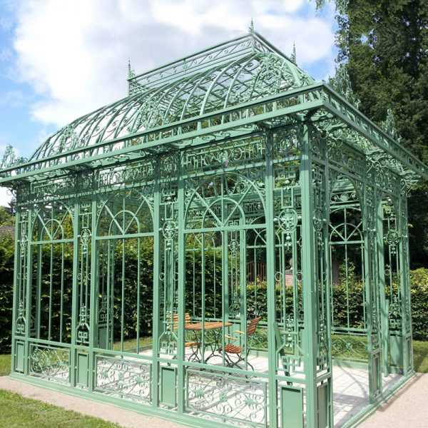 China Large Wrought Iron Gazebo for Garden Decor on Hot Selling IOK-82