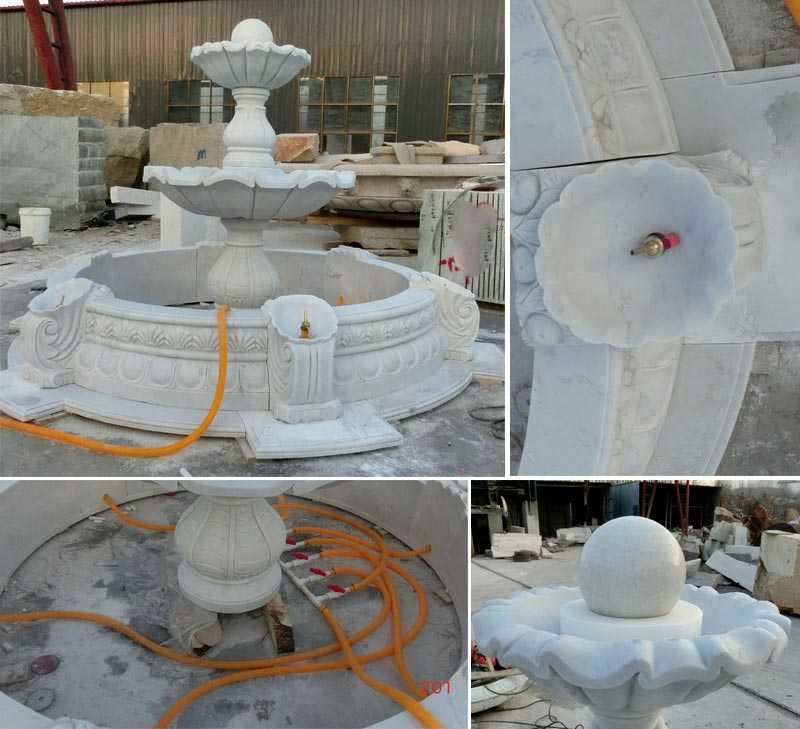 life size hand carved outdoor garden decoration marble fountain for sale