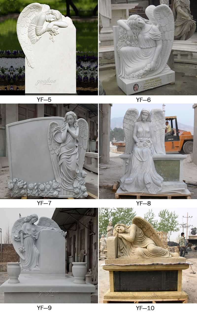 life size marble elegant cemetery angel headstones for sale