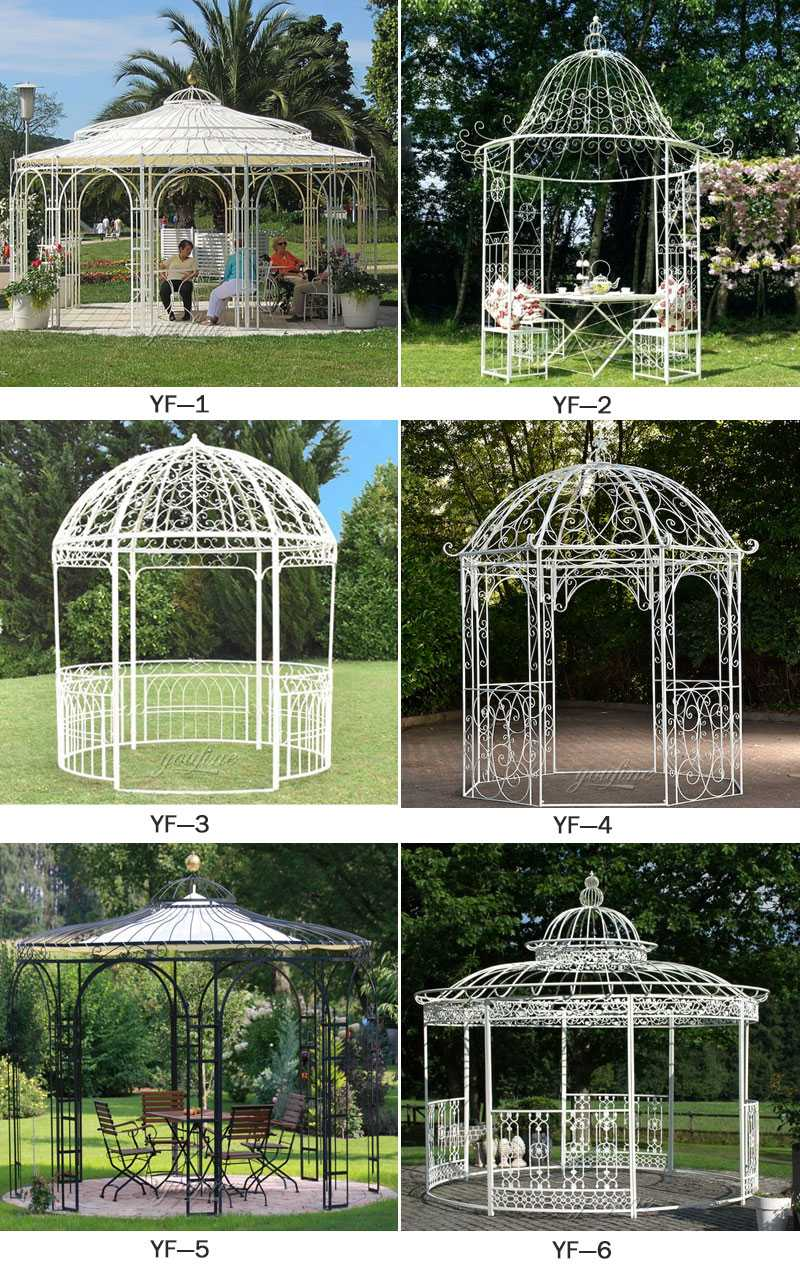 life size wrought iron gazebo for sale for wedding