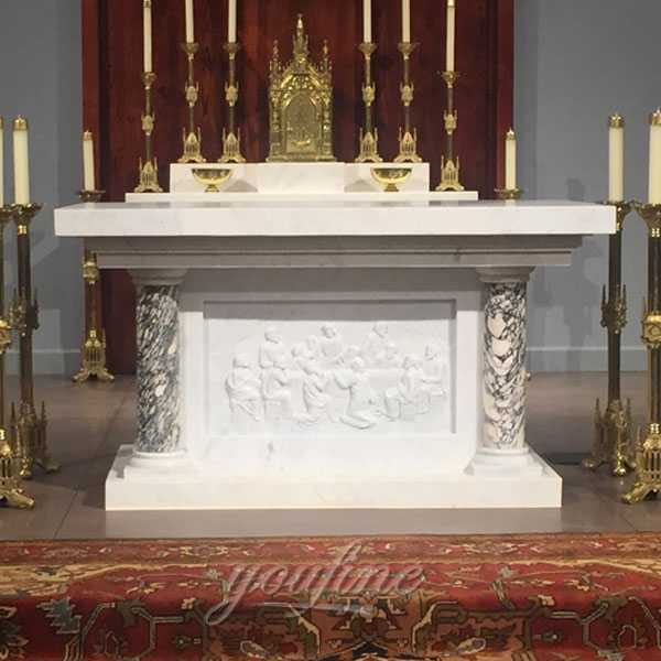 luxury life size white marble altar for sale