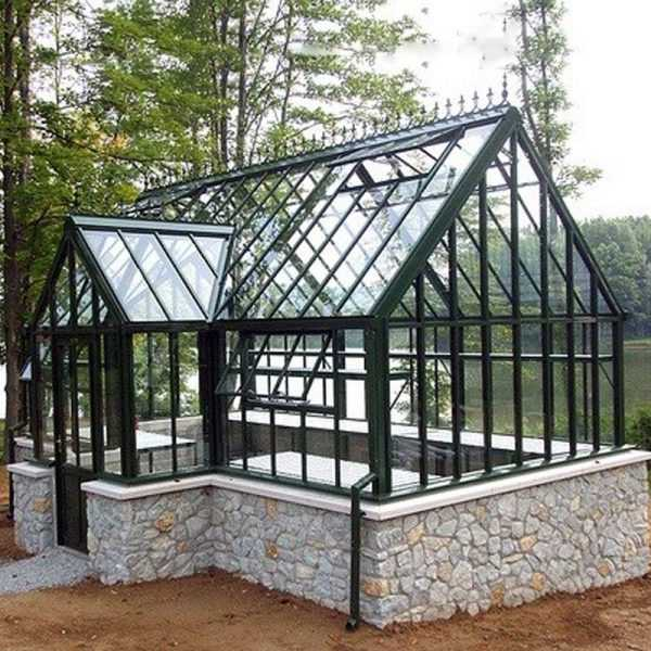 metal cheap custom made  life size garden wrought iron gazebo with glass for outdoor decor