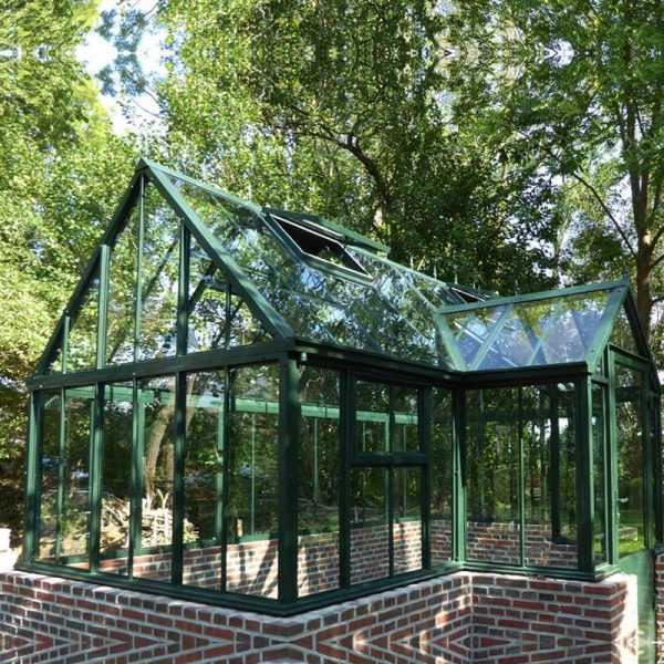 metal gazebo custom made English-style greenhouses wrought iron outdoor gazebo for sale IOK-93