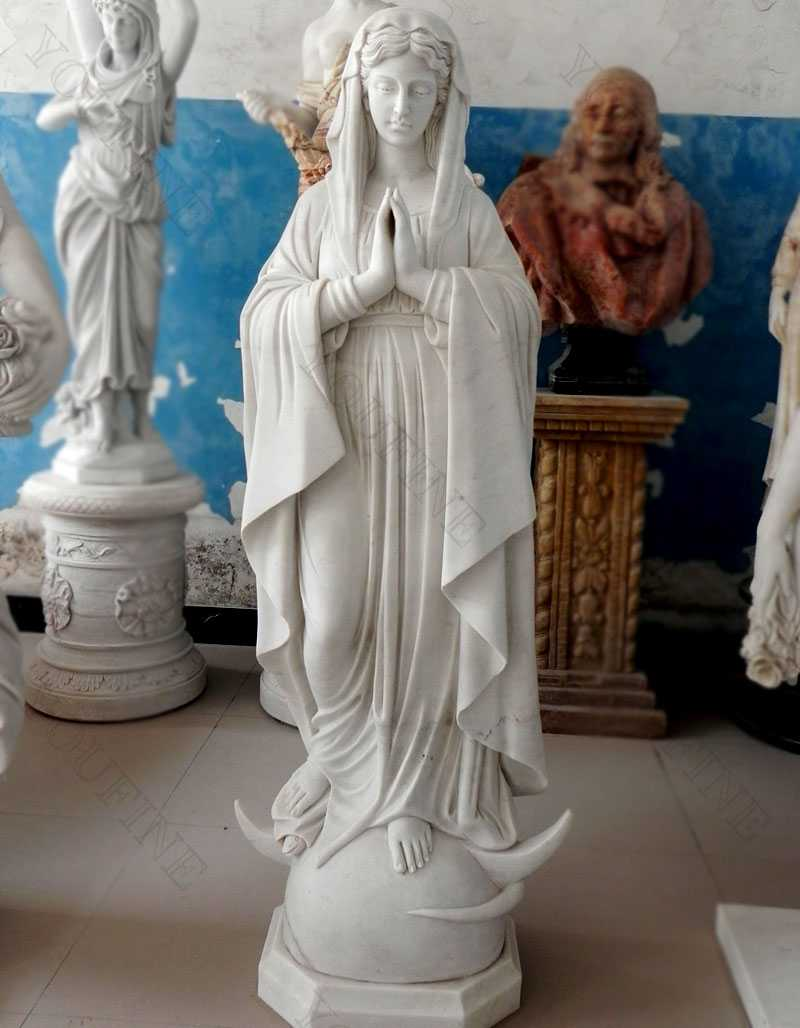 outdoor decor religious sculpture life size praying our lady of Mary statue for garden & church decoration