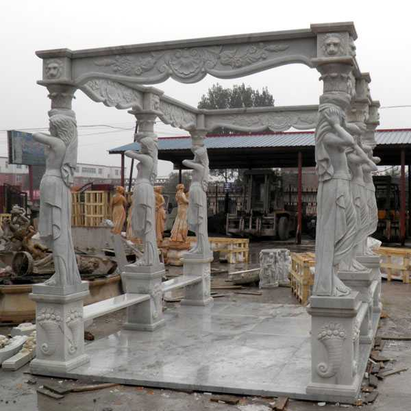 outdoor yard marble italian pavilion with beach factory costs for sale