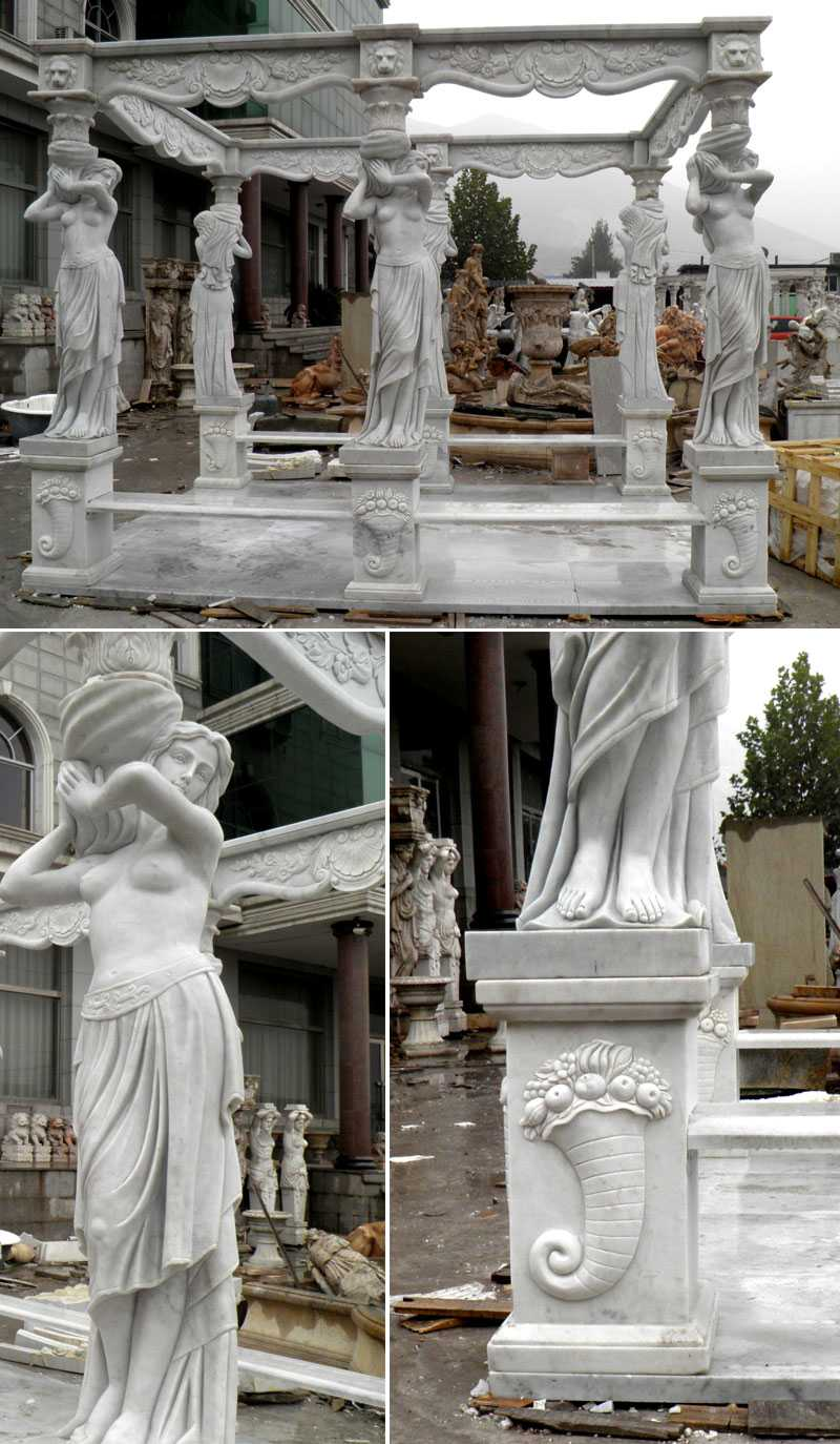outdoor yard marble italian pavilion with beach factory price for sale