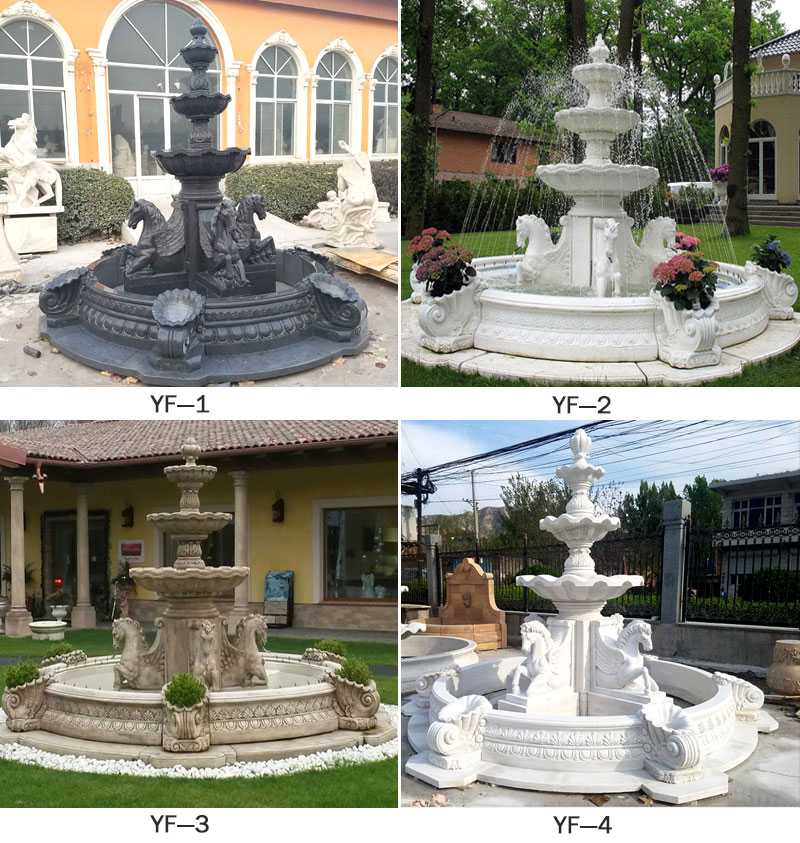 popular tiered white marble fountain for sale