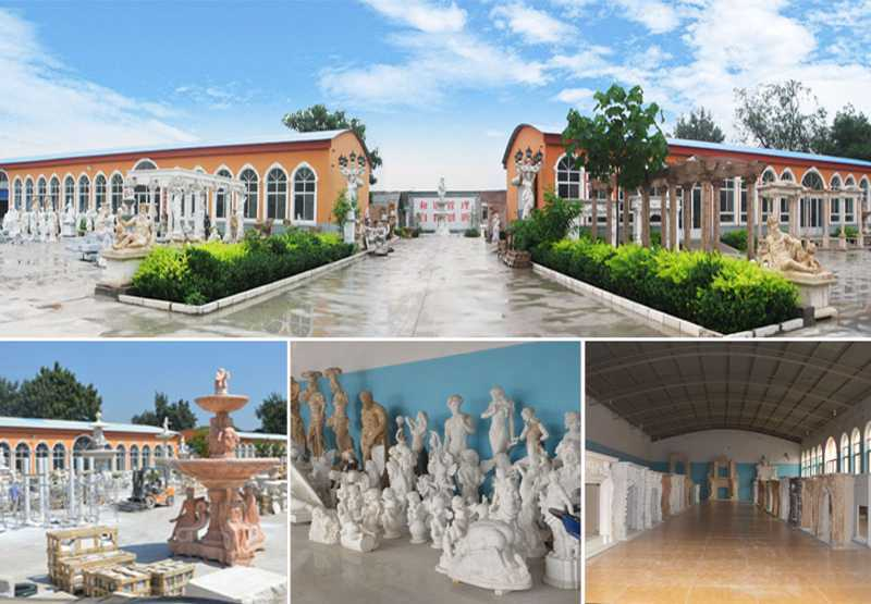 yellow marble garden gazebo with maidens statues