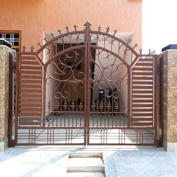 2019 simple and cheap decorative metal wrought iron gates designs for sale on stock