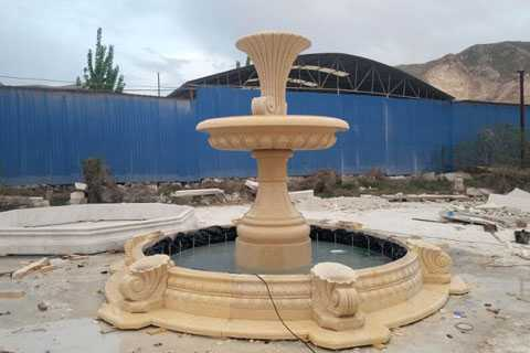 Beige-marble-fountain-is-finished