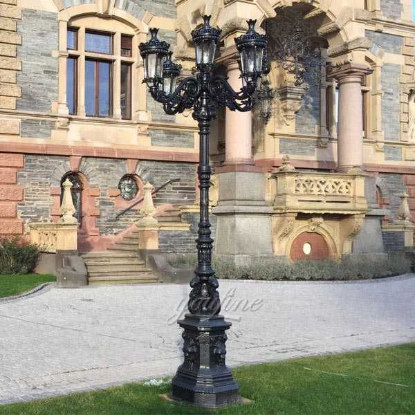Buy hot selling cast iron street lamp post designs from China supplier for sale--IOK-141