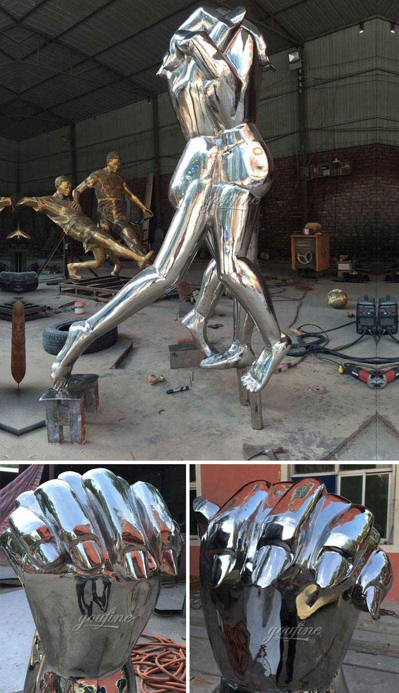 outdoor mirror modern abstract metal art yard sculptures