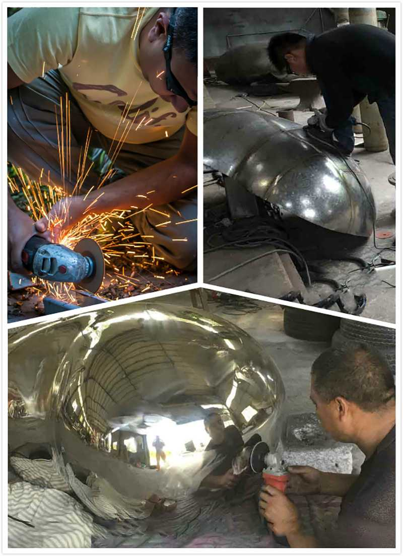 CSS-18 process of stainless steel abstract sculpture for sale