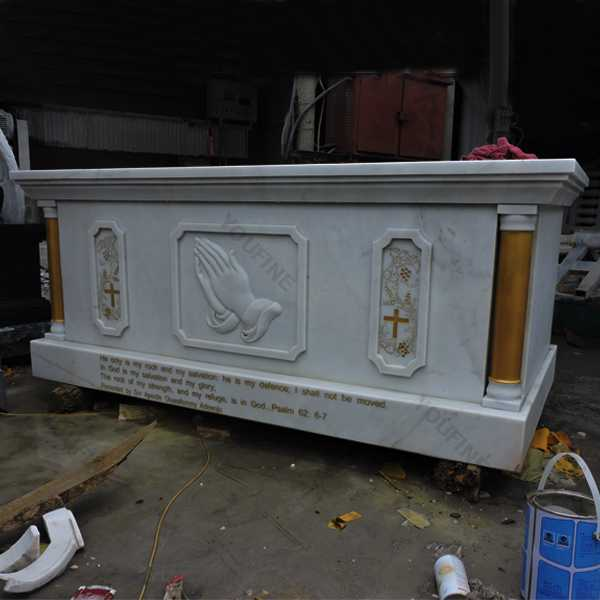 Catholic church decor marble altar table design for sale