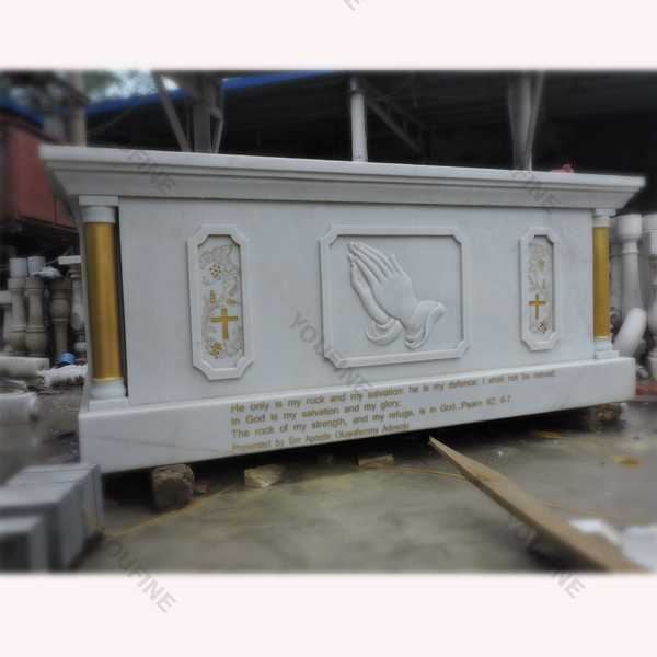 Catholic Church Decor Marble Religious Altar Table Design for Sale CHS-613