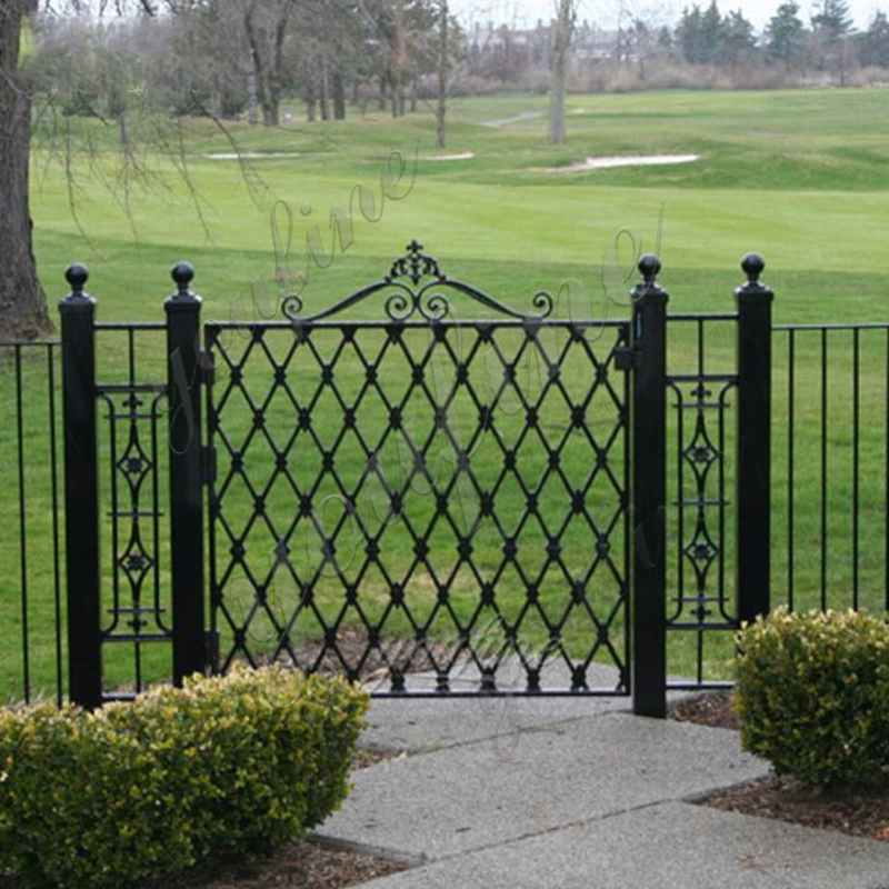 Cheap Metal Simple Wrought Iron Garden Gate and Fence Designs for Sale