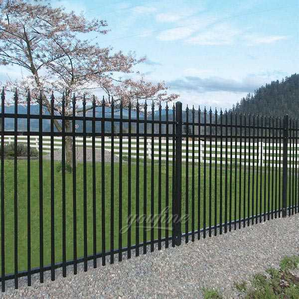 Cheap high wrought iron ornamental metal fencing panels idea for sale from iron manufacturer–IOK-134