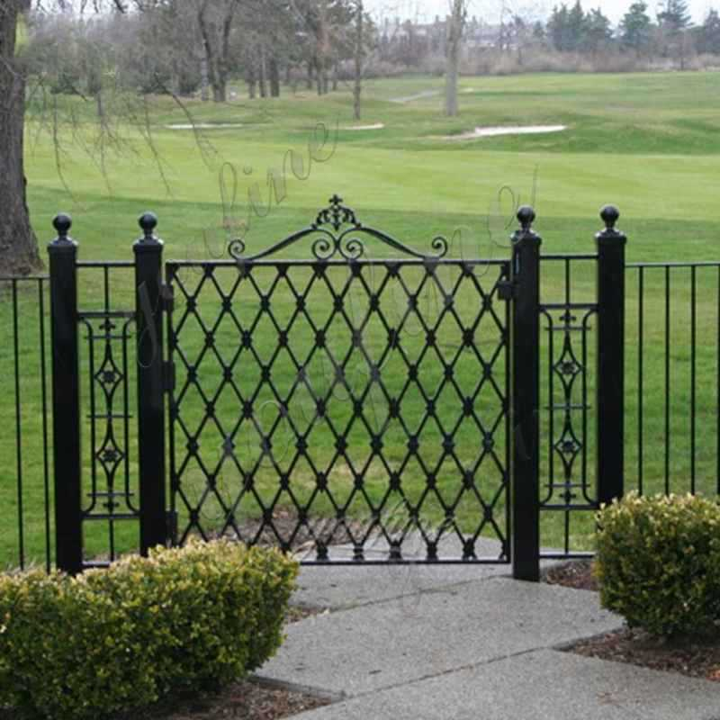 Cheap Simple Metal Wrought Iron Garden Gate and Fence Designs for Sale