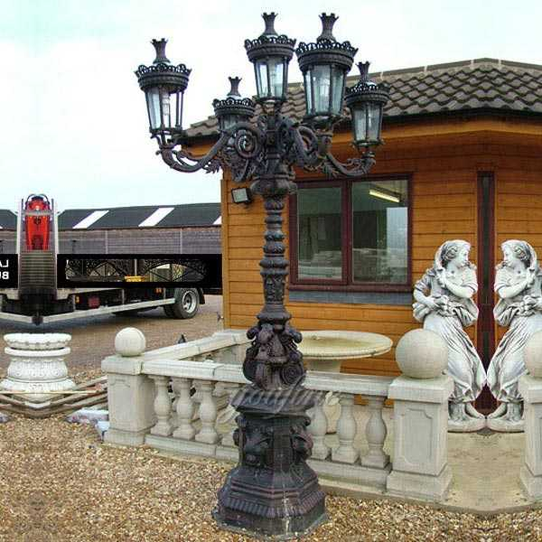 China Factory Supply Metal Art Antique Cast Iron Lamp Post for Sale IOK-142