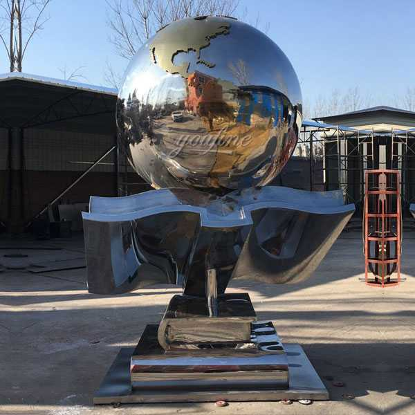 Contemporary custom made metal modern outdoor stainless steel sculpture for sales