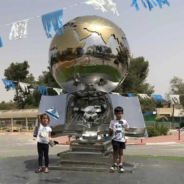 Contemporary custom made metal modern outdoor stainless steel sculptures for sale