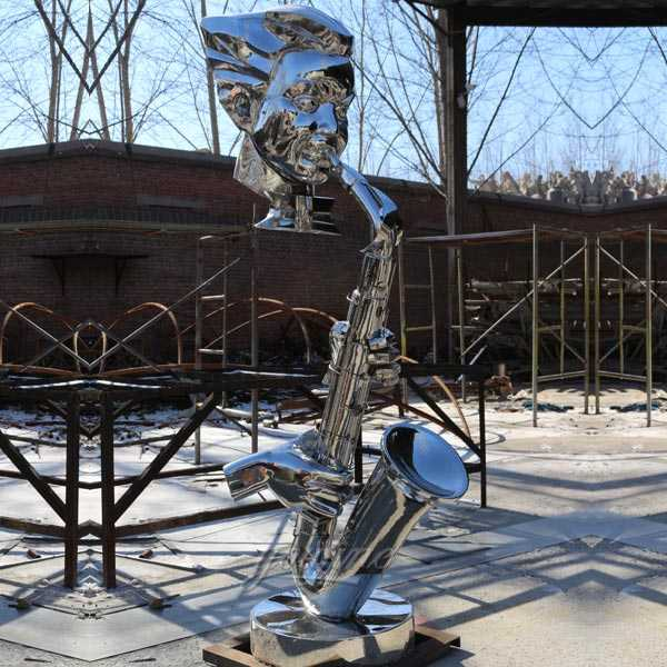 Contemporary high polished outdoor abstract sculpture designs for garden decor and yard decor for sale