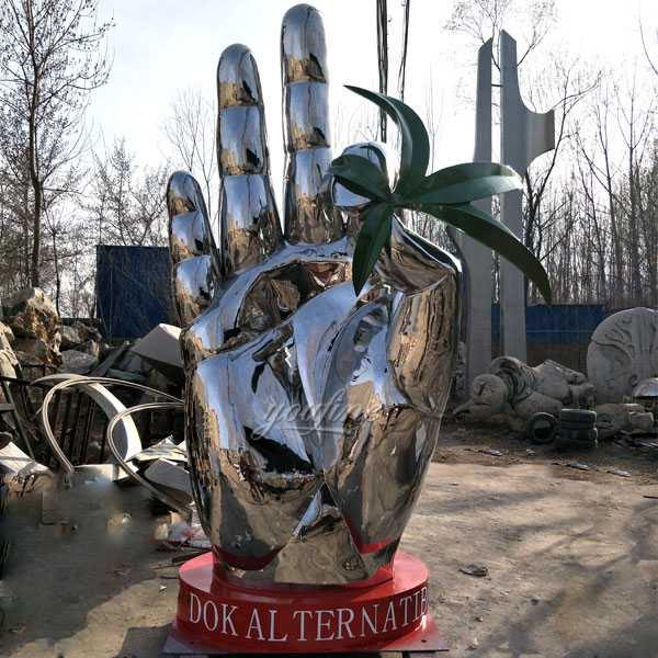 Custom made modern large metal sculptures mirror famous stainless steel sculpture for sale
