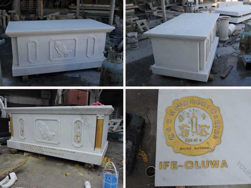 Details of catholic church decor marble carving altar table designs