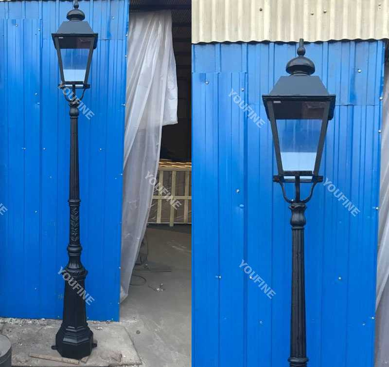 Easy hot selling in bulk popular cast iron street lamps post design for sale