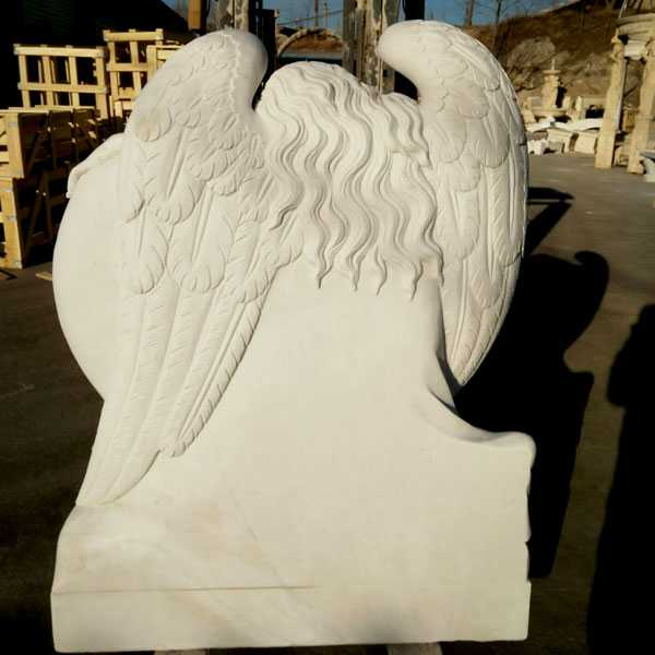 Grief angel with heart marble headstone monuments designs to buy