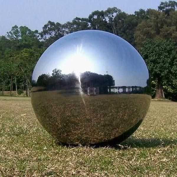 High polished outdoor modern garden metal art ball designs with different color for sale