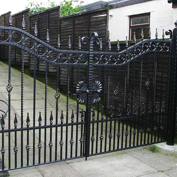 High quality decorative metal home wrought iron entrance gates for sale--IOK-192